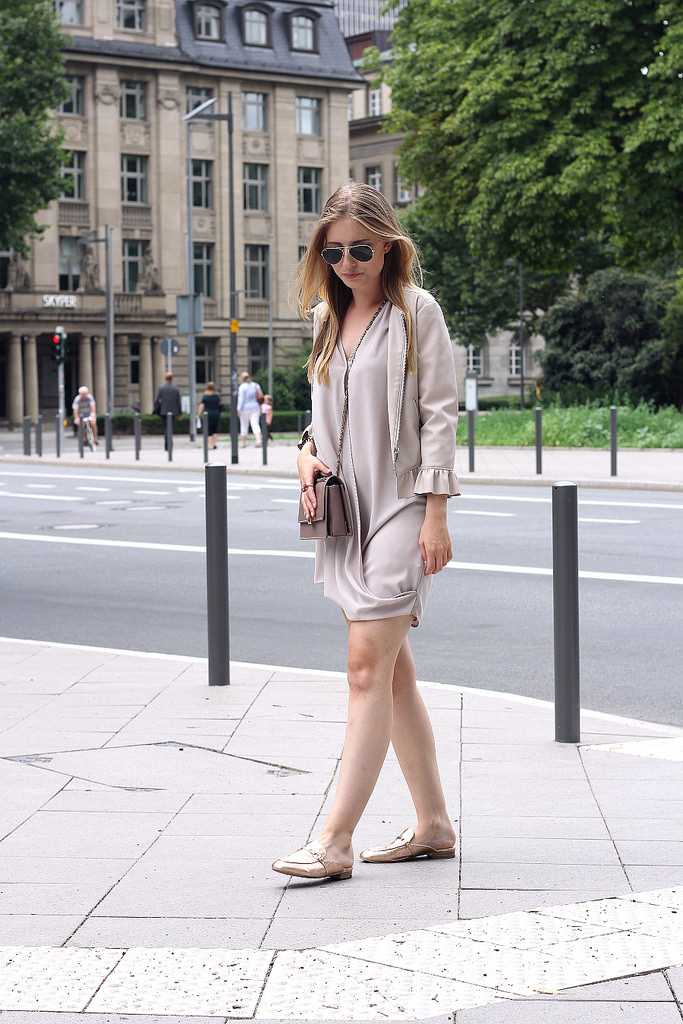 outfit beige und rosa streetyle