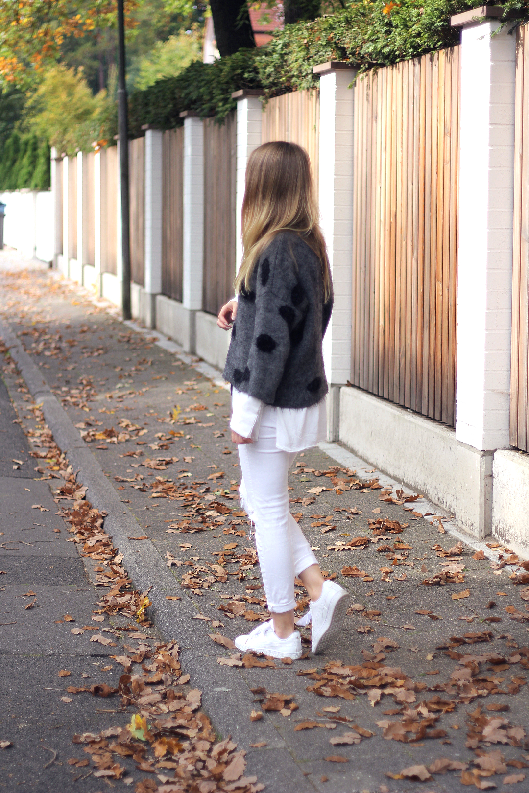 outfit pullover mit polka dots strick blogparade