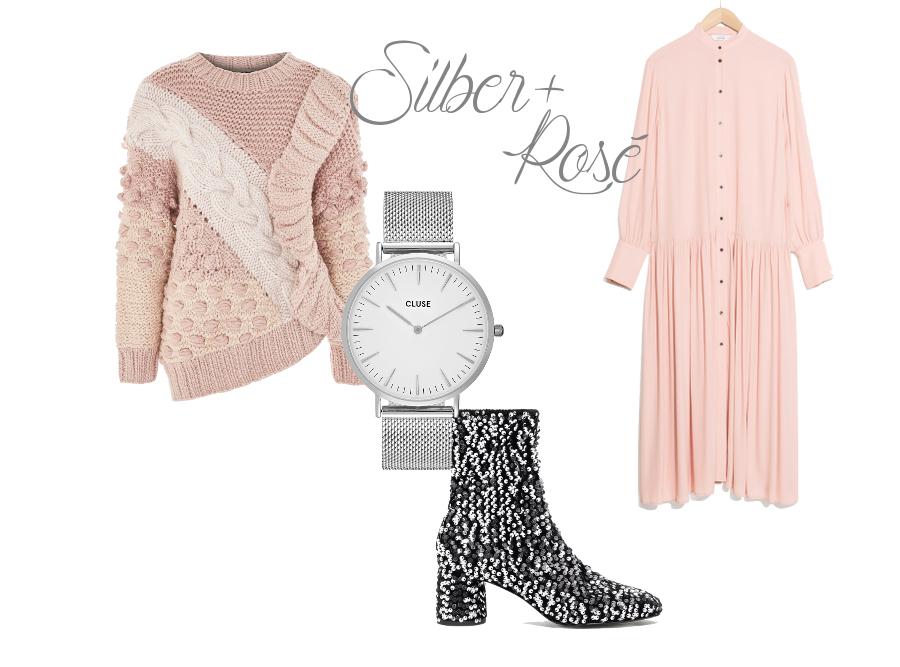 Silber und Rosa Weihnachtsoutfit