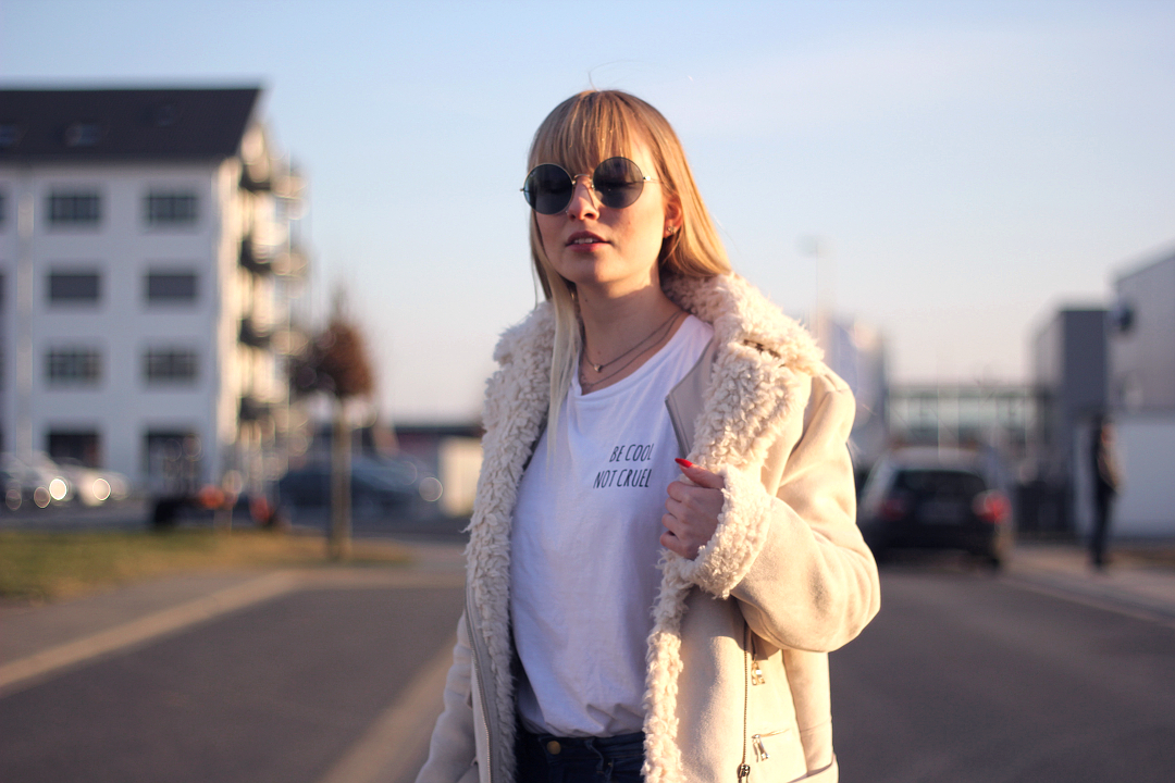 be cool not cruel und fake shearling jacke