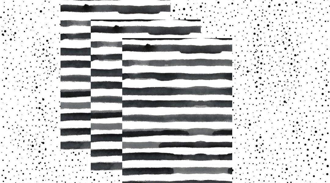 Streifen und Punkte Muster-Trend 2018