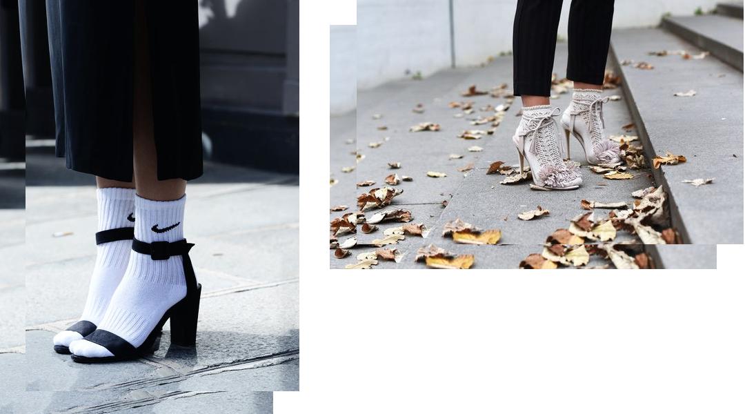 socken in den sandalen